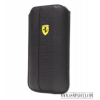 Ferrari iPhone 4/4S méretű slim bőr tok,Fekete