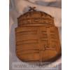 Faragott magyar címer, mahagóni színben