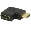Valueline HDMI™ adapter, HDMI™ csatlakozó, jobbos sarok - HDMI™ bemenet, fekete