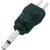 Voltcraft Kisfeszültségű jack adapter, 2, 5 mm, egyenes, Voltcraft