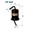 Filtron üzemanyagszűrő PP949 1db
