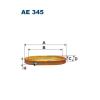 Filtron levegőszűrő AE345 1db