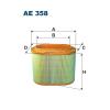 Filtron levegőszűrő AE358 1db