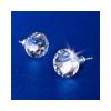 . Fülbevaló, lapos foglalatú,MADE WITH SWAROVSKI ELEMENTS, 8 mm, natúr fehér