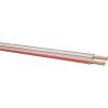 Leoni Iker hangszórókábel 2 x 4 mm² átlátszó, piros, méteráru, Leoni