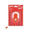 """APLI Mintalyukasztó, csillag, APLI """"Creative"""", narancs"""