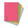 DONAU Regiszter, karton, A4, mikroperforált, DONAU, pir