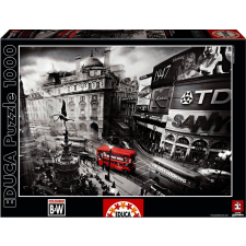 Educa Educa 1000 db-os Black & White puzzle - Piccadilly Circus (15981) puzzle, kirakós