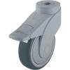 Blickle Blickle 744739 100 mm-es formatervezett műanyag görgő rögzítő fékkel, WAVE Kivitel Terelő görgő hátsó furattal és rögzítő fékkel