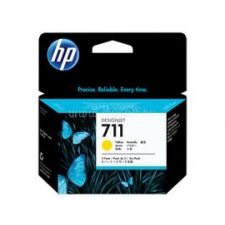 HP 711 3-pack 29-ml Yellow Ink Cartridges (CZ136A) nyomtatópatron & toner