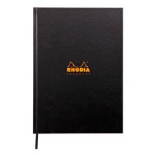 Clairefontaine Rhodia notesz  vonalas (keményfedeles  96lap  A4)  fekete jegyzettömb