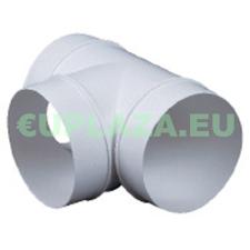 T idom, KO125-26, kör keresztmetszetű légcsatornához, műanyag, átmérő 125 mm barkácsolás, csiszolás, rögzítés