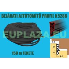 Ajtószigetelő, nútba építhető profil, bejárati ajtóhoz, K 5286, TPE, fekete, 150 m barkácsolás, csiszolás, rögzítés