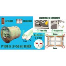 Ablakszigetelő, ajtószigetelő, öntapadó tömítőprofil, P, fehér, 9 x 5,5 mm x 100 m barkácsolás, csiszolás, rögzítés