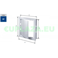 Szerelőajtó, DT11, ellenőrző ajtó, műanyag, fehér, 150 x 200 mm barkácsolás, csiszolás, rögzítés