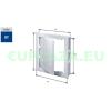 Szerelőajtó, DT16, ellenőrző ajtó, műanyag, fehér, 300 x 400 mm