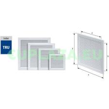 Szellőzőrács, TRU-8, szúnyoghálóval, csavarozható, ragasztható, műanyag, 250 x 250 mm barkácsolás, csiszolás, rögzítés