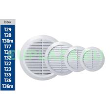 Szellőzőrács, T36, kerek, szúnyoghálóval, műanyag, állítható csőcsatlakozó 100-150 mm barkácsolás, csiszolás, rögzítés