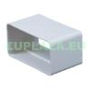 Csőtoldó, KP75-21, négyszög keresztmetszetű légcsatornához, műanyag, 75 x 150 mm