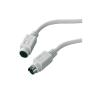 PS/2 1x PS/2 dugó - 1x PS/2 alj 2 m Szürke audió/videó kellék, kábel és adapter