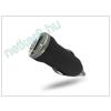 USB micro szivargyújtó töltő adapter - 5V/1A - fekete