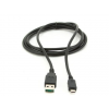 Gembird double-sided USB 2.0 AM to Micro-USB cable  0.3 m  black