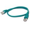 Gembird FTP kat.5e RJ45 patch kábel  0.5m  zöld