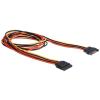 DELOCK Cable Power SATA 15 Pin male > SATA 15 Pin female extension 100 cm