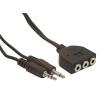 Gembird audio kábel 2x Jack 3.5mm apa / 3x Jack 3.5mm anya  1.8m