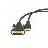 Gembird HDMI / DVI apa-apa kábel aranyozott csatlakozóval  1.8m  bulk