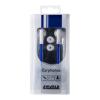 4world MP3 Earphones DuoColor Flat   jack 3.5mm   1.2m   Kék és fehér