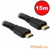 Noname Jelkábel HDMI-HDMI 1.4 3D 15m aranyozott Am/Am