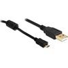 DELOCK USB 2.0 mikro kábel 1m (Type-A dugó / mikro-B dugó)