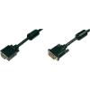 Digitus DVI / VGA TV, Monitor csatlakozókábel 1x - 1x VGA dugó 2 m Fekete Digitus