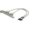 USB slot takaró, 2 db USB 2.0-ról 2 db 5 tüskés dugóra