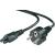 Belkin Áram  csatlakozókábel [1x lóhere forma dugó C6 - 1x védőérintkezős dugó] 1.80 m fekete Belkin