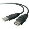 Belkin USB 2.0 hosszabbító, A/A, 4,8 m, fekete, Belkin Pro