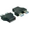 Átalakító, USB 3.0 Pin Header dugóról 2 db USB 3.0 A típusú dugóra