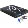 DELOCK külső ház mSATA > Multiport USB 3.0 + eSATAp