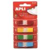 APLI Jelölőcímke, műanyag, 4x35 lap, 12x45 mm, APLI, 4 szín (LCA12483)