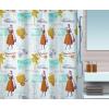 Spirella 10.16745 Fifties zuhanyfüggöny, multicolor