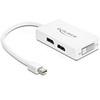 DELOCK mini DisplayPort to Displayport, HDMI, DVI 24 pin adapter