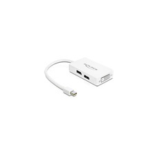 DELOCK mini DisplayPort to Displayport, HDMI, DVI 24 pin adapter audió/videó kellék, kábel és adapter