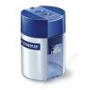 STAEDTLER Hegyező, kétlyukú, tartályos, STAEDTLER, kék (TS512001)