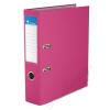 VICTORIA Iratrendező, 75 mm, A4, PP/karton, élvédő sínnel, VICTORIA, Basic, rózsaszín (IDI75R)