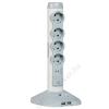 LEGRAND Elosztóoszlop, 4 csatlakozóaljzat,  túlfeszültség védelemmel, 2 m kábelhosszúság, USB csatlakozók, LEGRAND, fehér (ELL17)