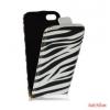 CELLECT Galaxy S4 Flip bőr tok, Zebra mintás