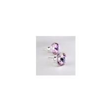 . Fülbevaló, MADE WITH SWAROVSKI ELEMENTS, 1 kristályos, ametiszt lila, 8mm fülbevaló