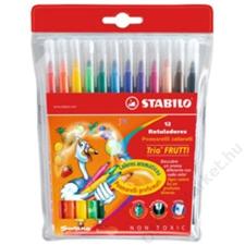 STABILO Filctoll készlet, illatos, STABILO Trio Frutti, 12 különböző szín (TST2901201) filctoll, marker
