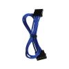 Bitfenix Molex hosszabbító 45cm - sleeved kék/fekete
